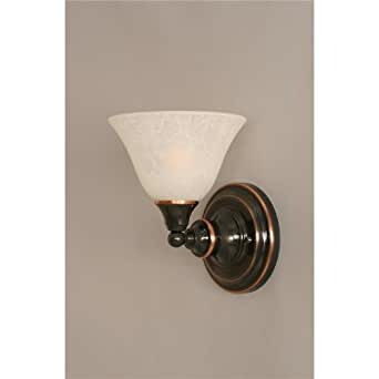Wall Sconce w White Marble Glass Shade - Light Fixture Replacement Shades - Amazon.com