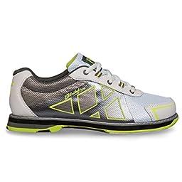 KR Strikeforce L-049-065 Kross Bowling Shoes, White/Grey/Yellow, Size 6.5