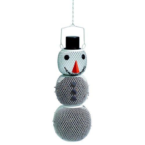white snowman wild bird feeder