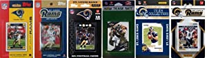 NFL St. Louis Rams Six Different Licensed Trading Card Team Sets by C&I Collectables