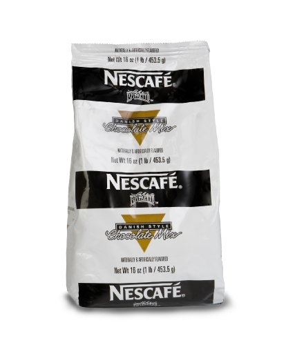 Nescafé Coffee, Ristretto Danish Chocolate Mix, 16-Ounce Package (Pack of 12)