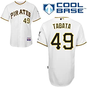 Jose Tabata Pittsburgh Pirates Home Authentic Cool Base Jersey by Majestic by Majestic