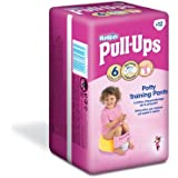 Huggies Pull Ups Potty Training Pants for Girls - Large (16-23 kg), 12 x 6 Packs (72 Pants)