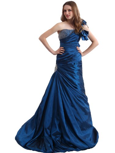 Landybridal 2013 One Shoulder Drop Waist Brush Train custom color Taffeta Mother of the Bride Dress F22009 custom made