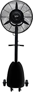 "Luma Comfort MF26B High Power Misting Fan - All Metal 26"" with 1000 Sq Ft Cooling & 5 Gal Tank from Luma Comfort Corporation"