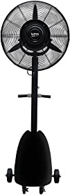 "Luma Comfort MF26B High Power Misting Fan – All Metal 26"" with 1000 Sq Ft Cooling & 5 Gal…"
