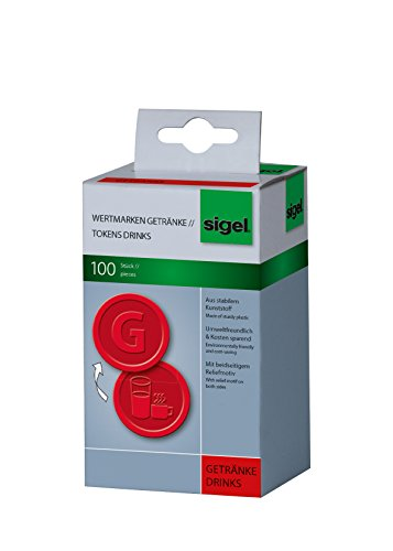 sigel-wm006-tokens-drinks-diameter-25-cm-red-100-pieces