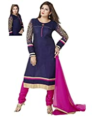 Ritu Creation Women's New Silk Stitched Straight Chudidar Suit With Fancy Sleeve Work
