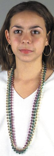 "Mardi Gras 33"" Beads (12 Necklaces)"