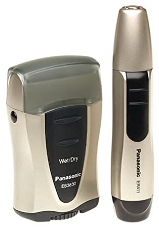 Panasonic ES3830NC Grooming Travel Pack with Single Foil Wet/Dry Shaver and Wet/Dry Nose/Ear Trimmer