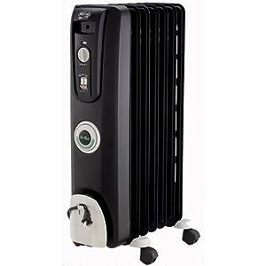 DeLonghi EW7707CB Safeheat 1500W ComforTemp Portable Oil-Filled Radiator - Black