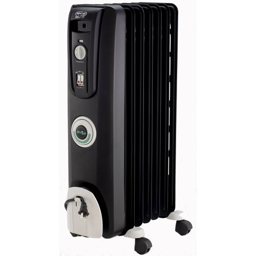 DeLonghi EW7707CB Safe Heat 1500W ComforTemp Portable Oil-Filled Radiator - Black (Large Oil Filled Radiator Heater compare prices)