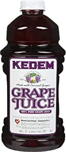 Kedem 100% Pure Kosher Grape Juice, For Passover and all Year Round, Plastic Bottle, Healthy and Delicious, Refreshing Taste (Concord Grape Juice, Half Gallon (64oz))
