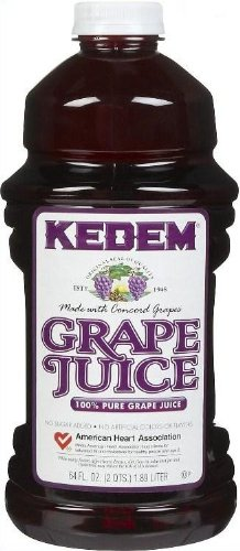 Kedem 100% Pure Kosher Grape Juice, For Passover