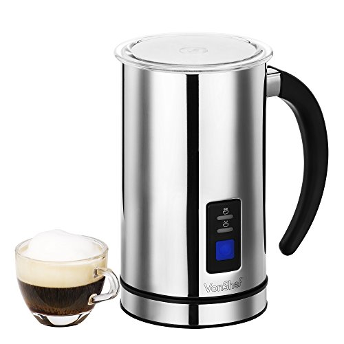 Keurig Coffee Maker Milk Frother : VonShef Premium Electric Milk Frother, Warmer and Cappuccino Maker