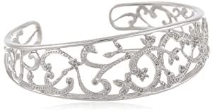 Sterling Silver Diamond Cuff Bracelet (1/4 cttw) from Amazon Curated Collection