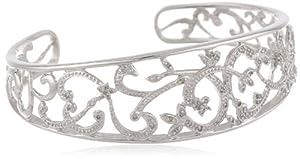 Sterling Silver Diamond Cuff Bracelet (1/4 cttw)
