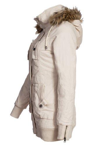 violet fashion design damen winterjacke beige s. Black Bedroom Furniture Sets. Home Design Ideas