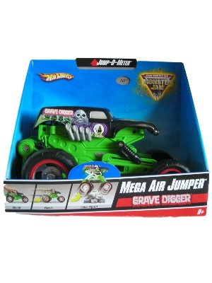 Hot Wheels Mega Air Jumper Grave Digger Monster Jam