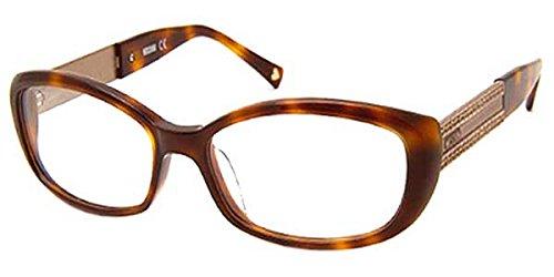 MoschinoMoschino Women's MO 071 Havana (02) Frame Clear Lens Full Rim Eyeglasses 53mm