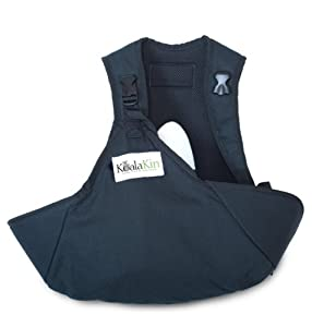 KoalaKin, Hands Free Nursing Pouch, Black/Green (Small Vest, M/L Pouch)