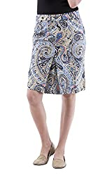 AARR blue paisely printed knee length skirt