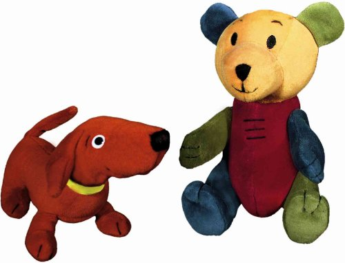 Dog & Bear Doll Pair