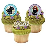 DisneyPixar Brave Merida and Cubs Cupcake Rings 12 Pack