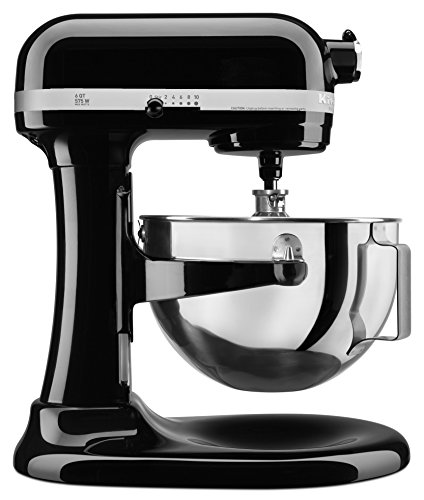 KitchenAid KL26M1XOB Professional 6-Qt. Bowl-Lift Stand Mixer - Onyx Black, (6 Qt Kitchenaid Mixer Black compare prices)