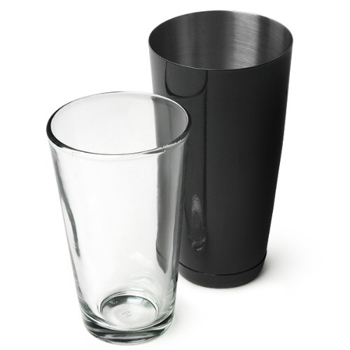 Professional Boston Cocktail Shaker Black (Tin