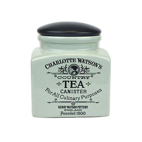 Charlotte Watson Square Ceramic Tea Jar In Celadon Green - 618