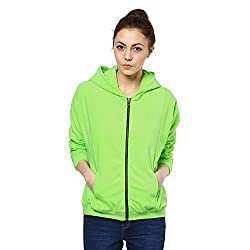Kaxiaa Blended Lime Sweat Shirt For Women (Size-Xx-Large)