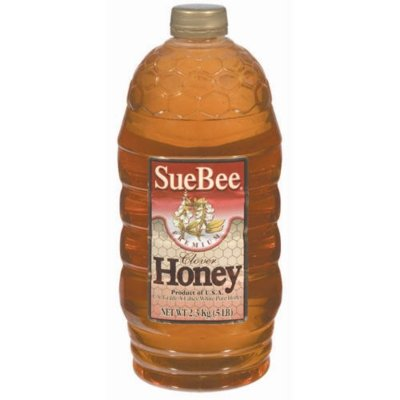 Natural Sue Bee Clover Honey - Five pounds