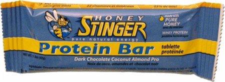 Honey Stinger Protein Bar 10G 15 Pack, Dark Chocolate Coconut Almond/Dark Brown,