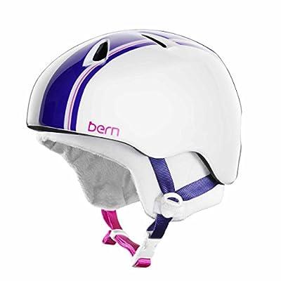 Bern Nina Girls Snow Bike Zip Mold Helmet White Purple JGGWTR Small Medium from Bern