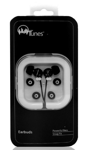 Hi-Fi Noise-Reducing Ear Buds For Kindle Fire, Ipad, Samsung Galaxy S3 4G Lte Verizon , At&T And Touchscreen Tablets (Black)