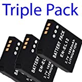 Premium Range -Triple Pack- 3x Nikon EN-EL12 Replacement Digital Camera Battery For Nikon Coolpix S610/S610c/S620/S630/S710 - Star-E-Shop