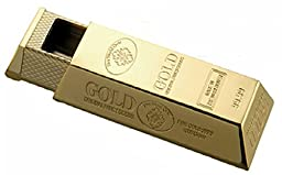 Cig-U Mini Pull Portable Pocket Gold Bar Style Zinc Alloy Ashtray With Drawer For Travel(Golden)