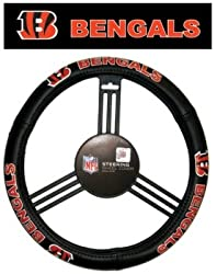 NFL Cincinnati Bengals Leather Steering Wheel Cover