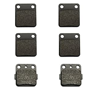 Volar A-(2xVMFA54)+VMFA84-ae-6 Kevlar Carbon Front and Rear Brake Pad
