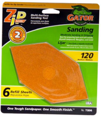 Gator Finishing 7206 Step-2 Zip Sander Refill Sandpaper