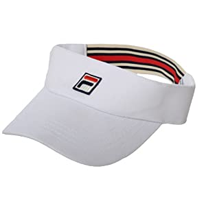 Fila Unisex Retro Sports Tennis Golf Visor Cap - White Cream - AX00336100 - NS