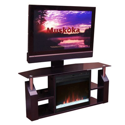Muskoka Domus Media Electric Fireplace, 53-Inch, Gloss Black picture