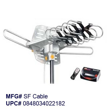 Learn More About Amplified HD Digital Outdoor HDTV Antenna with Motorized 360 Degree Rotation, UHF/V...