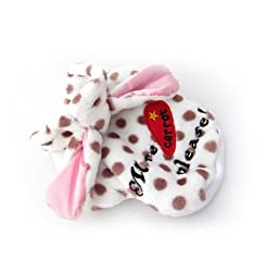 Demarkt Cute/Lovely Dog Cat Puppy Flannel Fleece Polka Dots with Bunny Rabbit Ears Hoodie Costume Clothes Pet Apparel Superdog Dress Up Pet Supplies White and Dots Coffee Size Large