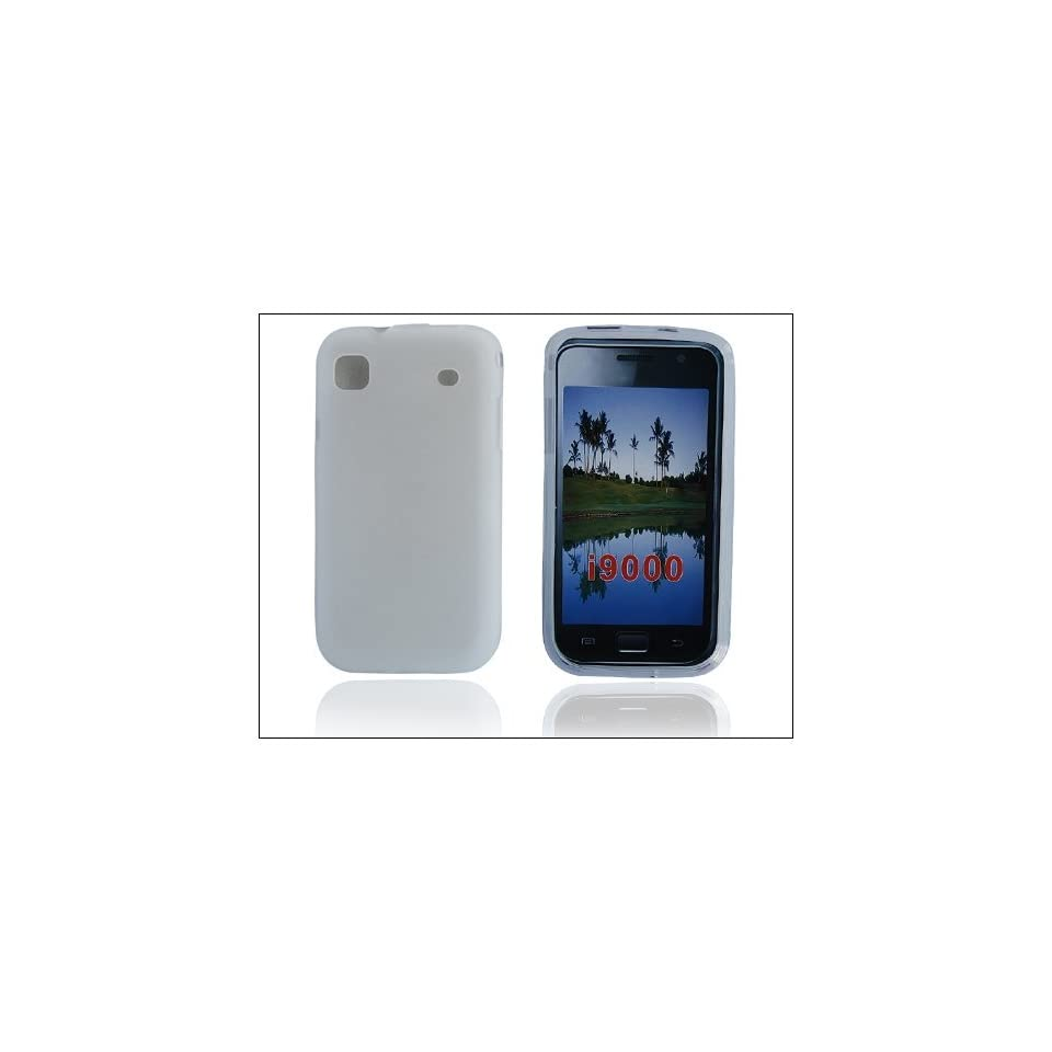 Hot Sales Soft Rubberized Silicone Cover for Samsung i9000 Clear J54