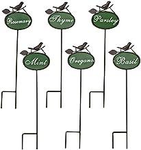 Abbott Metal Script Herb Markers Set of 6