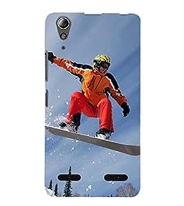 Ice Board Skating 3D Hard Polycarbonate Designer Back Case Cover for Lenovo A6000 :: Lenovo A6000 Plus :: Lenovo A6000+