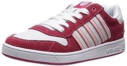 K-Swiss Jackson GS Tennis Shoe (Big Kid),Raspberry/White/Crystal Rose,6 M US Big Kid