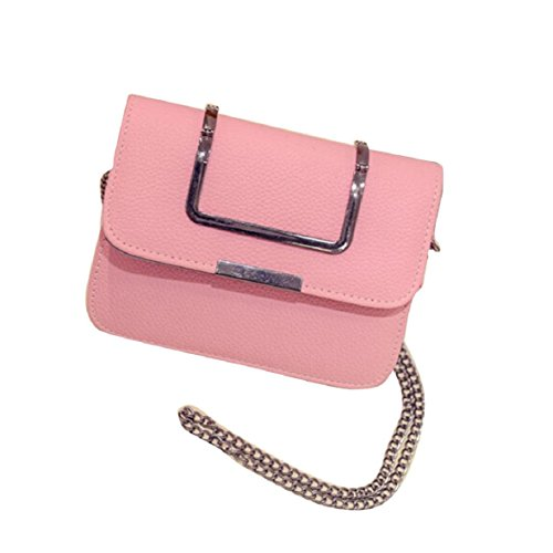 lookatool-fashion-women-leather-chain-handbag-cross-body-single-shoulder-phone-coin-bag-pink